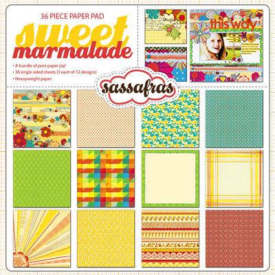 Sassafras Lass - Sweet Marmalade Collection - 12 x 12 Paper Pad