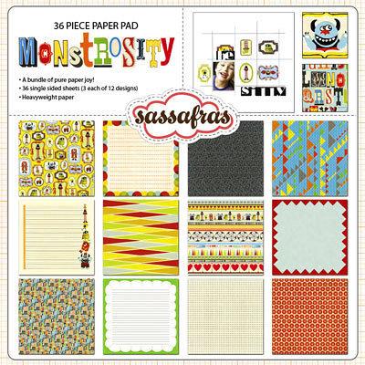 Sassafras Lass - Monstrosity Collection - 12 x 12 Paper Pad