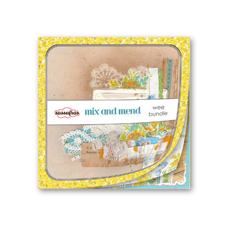Sassafras Lass - Mix and Mend Collection - Wee Bundle - 6 x 6 Paper Pad