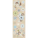 Sassafras Lass - Serendipity Collection - Rub-Ons - Blue Flower Flair, CLEARANCE