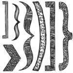 Sassafras Lass - Nesters Clear Stamp Sets - Doodled Brackets, CLEARANCE