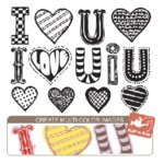 Sassafras Lass - Clear Stamp Sets - Flip-A-Roo - I Love You, CLEARANCE