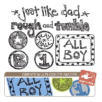 Sassafras Lass - Clear Stamp Sets - All Boy, CLEARANCE