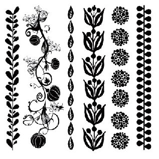 Sassafras Lass - Clear Stamp Sets - Organic Borders, CLEARANCE