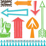 Sassafras Lass - Clear Acrylic Stamps - This Way, CLEARANCE