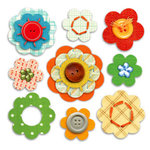 Sassafras Lass - In a Stitch Blossoms - Free Rein , CLEARANCE