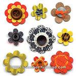 Sassafras Lass - In a Stitch Blossoms - Rascals