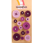 Sassafras Lass - Serendipity - Life at the Pole Collection - In a Stitch Buttons - Purple