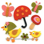 Sassafras Lass - Self Adhesive Felties - Puddle Jumpers, CLEARANCE