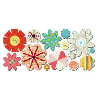 Sassafras Lass - Paper Whimsies - Die Cut Blossoms - Vintage Cluster