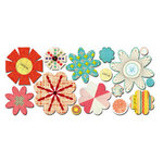 Sassafras Lass - Paper Whimsies - Die Cut Blossoms - Vintage Cluster