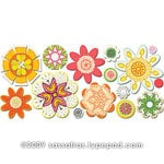 Sassafras Lass - Paper Whimsies - Die Cut Blossoms - Beatnik Buds