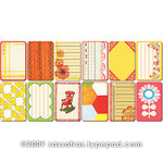Sassafras Lass - Paper Whimsies - Mini Playing Cards - Flower Child, CLEARANCE