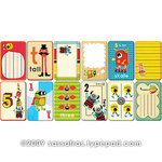 Sassafras Lass - Paper Whimsies - Mini Playing Cards - Hooligan Countdown