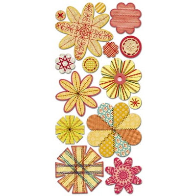 Sassafras Lass - Paper Whimsies - Die Cut Blossoms - Seamstress Bouquet, CLEARANCE