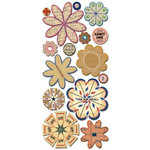 Sassafras Lass - Paper Whimsies - Die Cut Blossoms - Via Air Mail, CLEARANCE