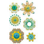 Sassafras Lass - Entwined Blooms - Turkish Turquoise