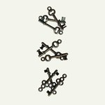 7 Gypsies - Mini Keys - 3 Designs - Silver, CLEARANCE
