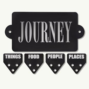 7 Gypsies - Metal Plate 4 Tabs - Journey - Places People Food Things, CLEARANCE