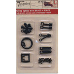 7 Gypsies - Photo Turn Shapes and Brads Kit - Black, BRAND NEW