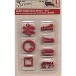 7 Gypsies - Photo Turn Shapes and Brads Kit - Red, BRAND NEW