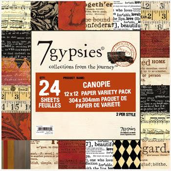 7 Gypsies - 12x12 Paper Pack - Variety - Journey - Canopie
