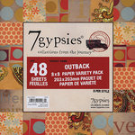 7 Gypsies - 8x8 Paper Pack - Variety - Journey - Outback, CLEARANCE