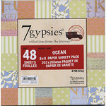 7 Gypsies - 8x8 Paper Pack - Variety - Journey - Ocean, CLEARANCE