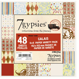 7 Gypsies - 6x6 Paper Pack - Variety - Journey - Calais, CLEARANCE