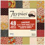 7 Gypsies - 12x12 Paper Pack - Variety - Journey - Zanzibar