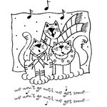 Shirleys 2 Girls - Christmas - Clear Acrylic Stamps - We Won't Go Cats, BRAND NEW