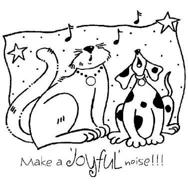 Shirleys 2 Girls - Christmas - Clear Acrylic Stamps - Joyful Cat and Dog