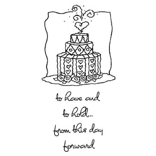 Shirleys 2 Girls - Clear Acrylic Stamps - Wedding Cake, BRAND NEW