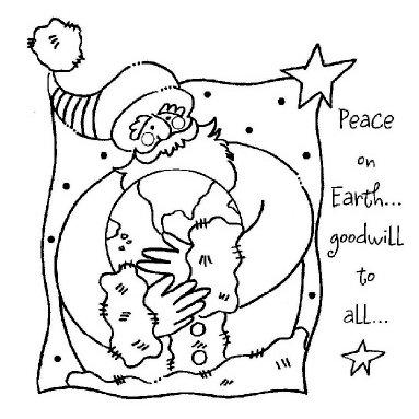 Shirleys 2 Girls - Christmas - Clear Acrylic Stamps - Santa and World