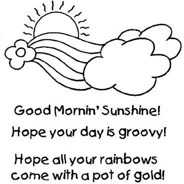 Shirleys 2 Girls - Clear Acrylic Stamps - Mornin Sunshine