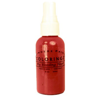 Shimmerz - Coloringz - Pigment Mist Spray - 2 Ounce Bottle - My Bleeding Heart