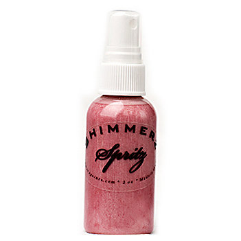 Shimmerz - Spritz - Iridescent Mist Spray - 1 Ounce Bottle - Bed of Roses