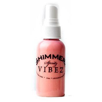 Shimmerz - Vibez - Iridescent Mist Spray - Bold - 2 Ounce Bottle - Pop Art Pink