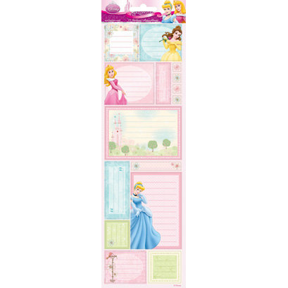 Sandylion - Disney - Princess Collection - Princess Dreamland Journaling Glitter Cardstock Stickers, BRAND NEW