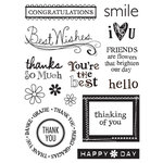 Sandylion - Kelly Panacci Collection - Clear Acrylic Stamps - Sentiments, CLEARANCE