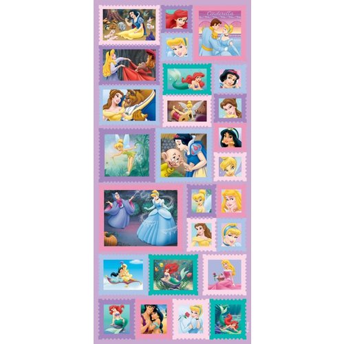 Sandylion - Disney - Princess - Postage Stamp Stickers, CLEARANCE