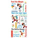 Sandylion - Disney - Mickey Phrase Scrapbook Stickers, CLEARANCE