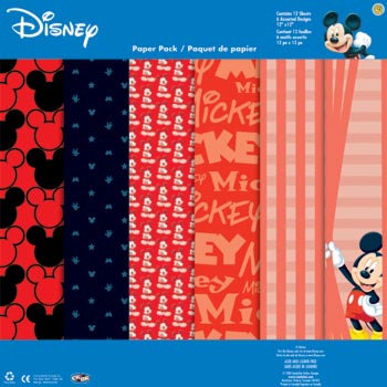 Sandylion - Disney Collection - 12x12 Paper Pack - Mickey, CLEARANCE