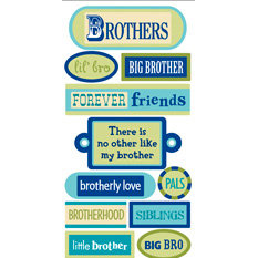 Sandylion - Essentials - 3 Dimensional Stickers - Brothers, CLEARANCE