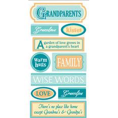 Sandylion - Essentials - 3 Dimensional Stickers - Grandparents, CLEARANCE