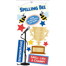 Sandylion - Essentials - 3 Dimensional Stickers - Spelling Bee, CLEARANCE
