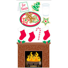 Sandylion - Essentials - Christmas - 3 Dimensional Stickers - Cookies for Santa, CLEARANCE