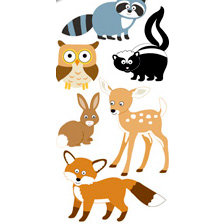 Sandylion - Large Essentials - Handmade 3 Dimensional Stickers - Woodland Animals, CLEARANCE