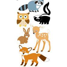Sandylion - Large Essentials - Handmade 3 Dimensional Stickers - Woodland Animals, CLEARANCE