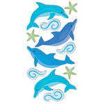 Sandylion - Large Essentials - Handmade Stickers - Dolphins
